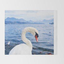 Swan & Alps Throw Blanket