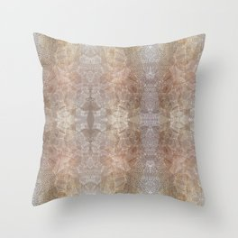 Gold Luxury Embroidery Pattern Throw Pillow