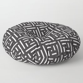 Human History (Black and White) Floor Pillow