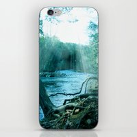 woods iPhone & iPod Skins featuring woods  by mark ashkenazi