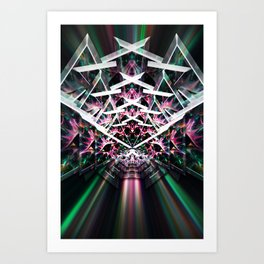 Crystalized Refraction Art Print