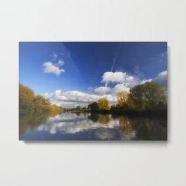 Autumn on the River Thames Metal Print
