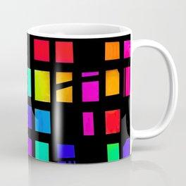 Rainbow Pixel in darck Coffee Mug