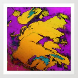 Yellow erosion Art Print