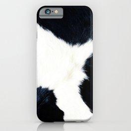 Black & White Spots (Cow Print) iPhone Case