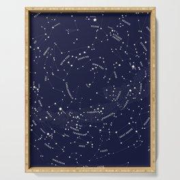Constellation Map - Indigo Serving Tray