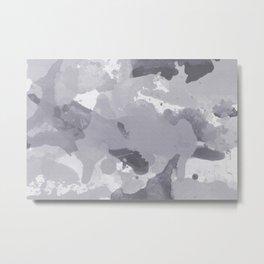 Pantone Lilac Gray Splatters Watercolor Camo Pattern Metal Print