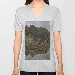 Dunluce Castle Unisex V-Neck