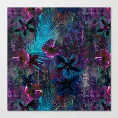 Haleiwa Tropical Purple Canvas Print