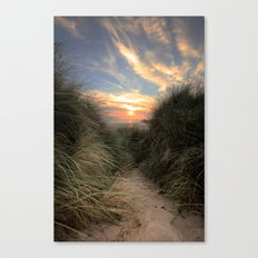 Sunset Through The Dunes Canvas Print