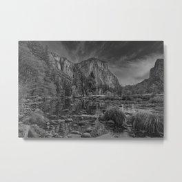 Valley View B & W 6656 - Yosemite National Park, CA Metal Print
