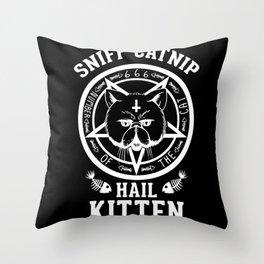 Sniff Catnip - Hail Kitten Throw Pillow
