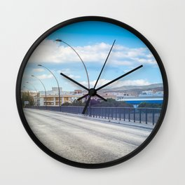 The road and lights in Spain, Andalusia Wall Clock