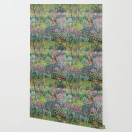 The Iris Garden at Giverny by Claude Monet Wallpaper