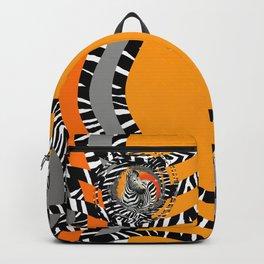 Zebra Tribal Sunset Backpack
