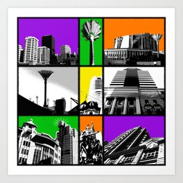 Windows on Wellington Art Print
