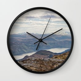 Mountain landscape Wall Clock