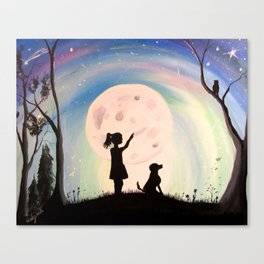 Wishing upon a star Canvas Print