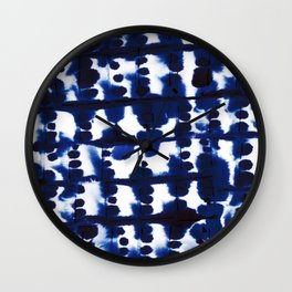 Parallel Indigo Wall Clock