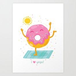 i love yoga Art Print