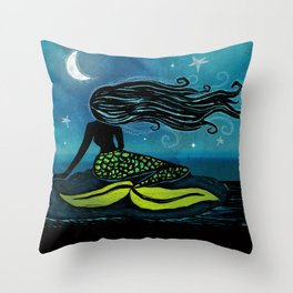 Mermaid Song Throw Pillow