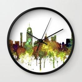 Lansing, Michigan Skyline - Safari Buff Wall Clock