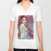 once upon a  time V-neck T-shirts featuring Once Upon a Time by Sirenphotos
