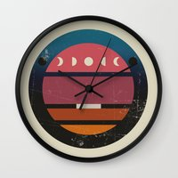 lunar Wall Clocks featuring Lunar by Trent Kühn