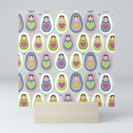 matryoshka with heart Mini Art Print