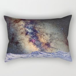 Sagitario, Scorpio and the star Antares over the hight mountains Rectangular Pillow