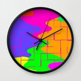 Puzzle Splatters Wall Clock