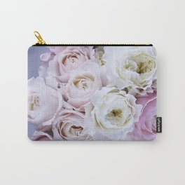 Pastel Pink Flowers Carry-All Pouch