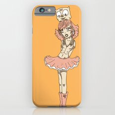 Girl in Skirt with Owl on Head by RonkyTonk Slim Case iPhone 6s