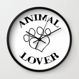 Animal Lover - Paw Wall Clock