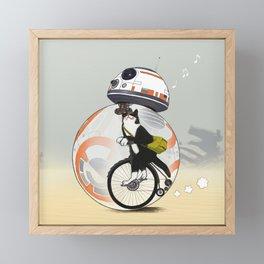 CAT INSIDE DROID Framed Mini Art Print