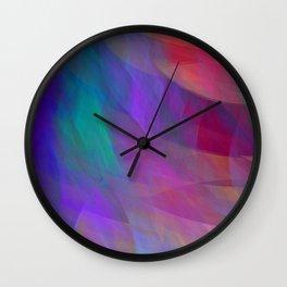 Color flames, artistic fractal abstract Wall Clock