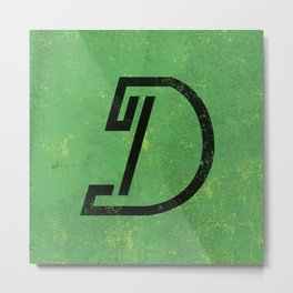 Letter D - Letter A Day Project Metal Print