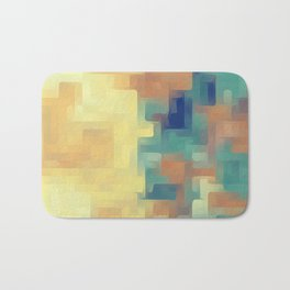 yellow green and brown painting abstract background Bath Mat