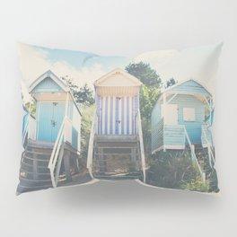 beach huts photograph Pillow Sham