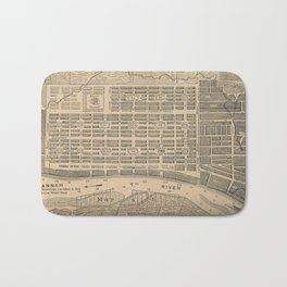 Vintage Map of Savannah Georgia (1818) Bath Mat