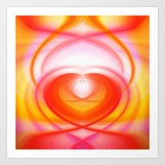 Twirl in Love Art Print