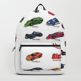 Redline Era 1960's Hot Wheels Sizzlers Advertising Vintage Toy Car Poster Backpack