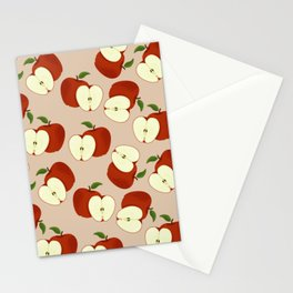 apples on palest pearl Stationery Cards