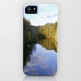 Lake Vesuvius Rock Edge View, Wayne National Forest, Oh, 2014 iPhone Case