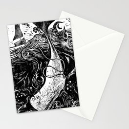 Moby Dick Wood Cut Stationery Cards