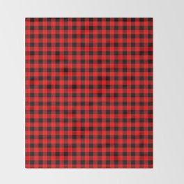 Mini Red and Black Coutry Buffalo Plaid Check Throw Blanket