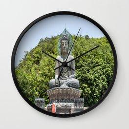A Monk at the Bronze Buddha Wall Clock