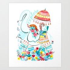 Explore Thai Elephant Travel Art Print