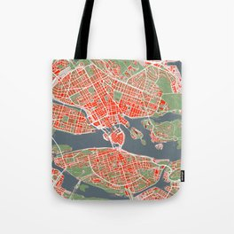 Stockholm city map classic Tote Bag