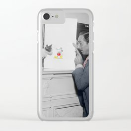 Vintage Mickey Mouse Clear iPhone Case